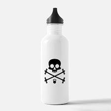 Skull and Cross Fitness Water Bottle