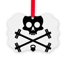 Skull and Cross Fitness Ornament
