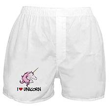 I Love Unicorn Boxer Shorts
