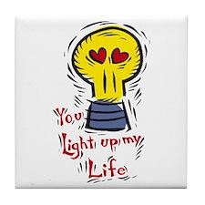 You light up my life Tile Coaster