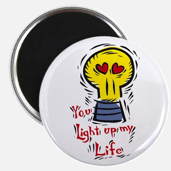 """You light up my life 2.25"""" Magnet (100 pack)"""