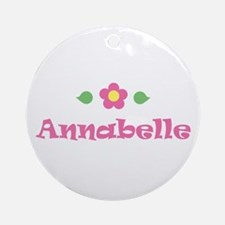 """Pink Daisy - """"Annabelle"""" Ornament (Round)"""