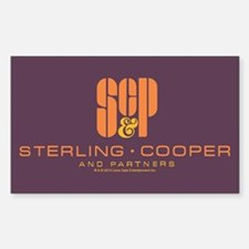 SC&P Mad Men Logo Sticker (Rectangle)