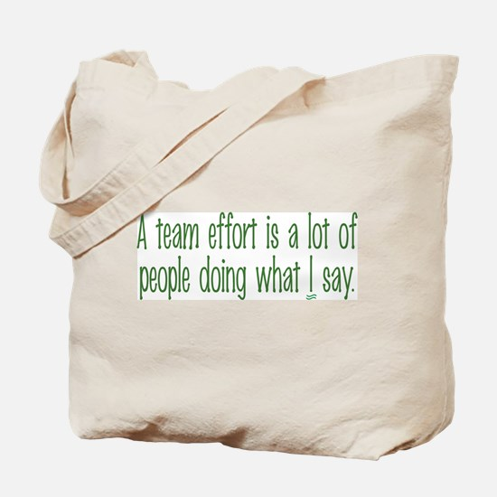 Team Effort Tote Bag