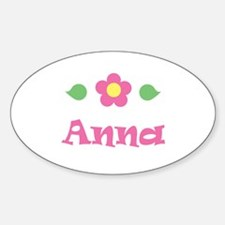 "Pink Daisy - ""Anna"" Oval Decal"
