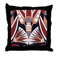 Art Deco Geometric Floral Throw Pillow
