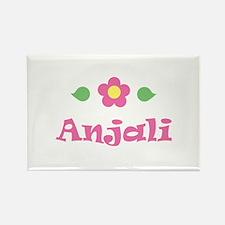"Pink Daisy - ""Anjali"" Rectangle Magnet"