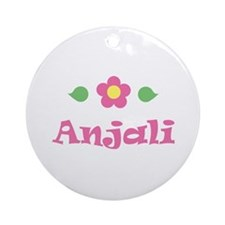 "Pink Daisy - ""Anjali"" Ornament (Round)"