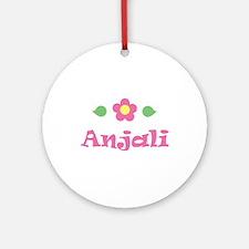 "Pink Daisy - ""Anjali"" Ornament (Round)"