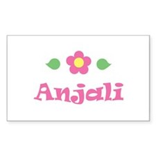 "Pink Daisy - ""Anjali"" Rectangle Decal"