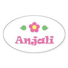 """Pink Daisy - """"Anjali"""" Oval Decal"""
