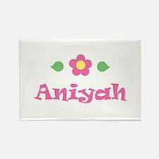 "Pink Daisy - ""Aniyah"" Rectangle Magnet"