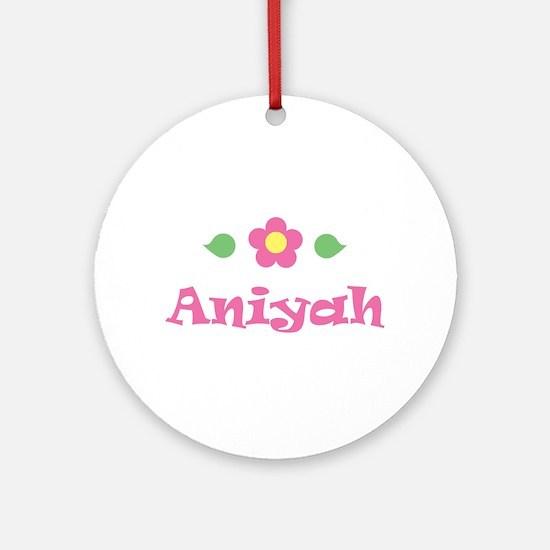 "Pink Daisy - ""Aniyah"" Ornament (Round)"