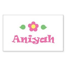 "Pink Daisy - ""Aniyah"" Rectangle Decal"