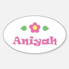 "Pink Daisy - ""Aniyah"" Oval Decal"
