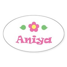 "Pink Daisy - ""Aniya"" Oval Decal"