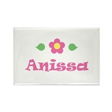 "Pink Daisy - ""Anissa"" Rectangle Magnet"
