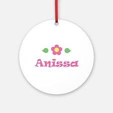 "Pink Daisy - ""Anissa"" Ornament (Round)"