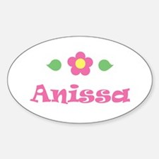 "Pink Daisy - ""Anissa"" Oval Decal"