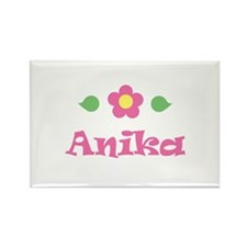 "Pink Daisy - ""Anika"" Rectangle Magnet"