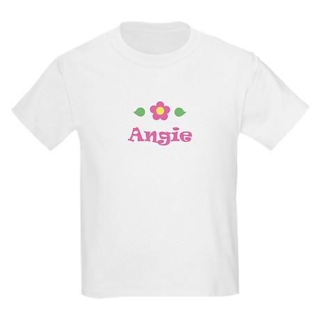 """Pink Daisy - """"Angie"""" Kids T-Shirt"""