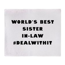 World's Best Sister-In-Law (Hashtag) Throw Blanket