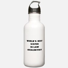 World's Best Sister-In-Law (Hashtag) Water Bottle