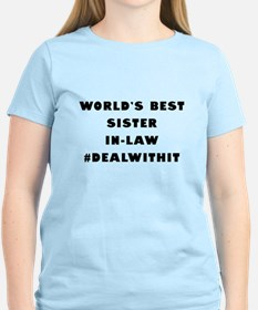 World's Best Sister-In-Law (Hashtag) T-Shirt