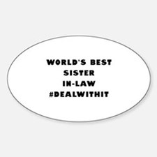 World's Best Sister-In-Law (Hashtag) Decal