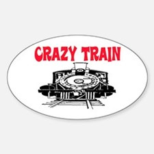 CRAZY TRAIN Sticker (Oval)