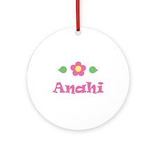 "Pink Daisy - ""Anahi"" Ornament (Round)"