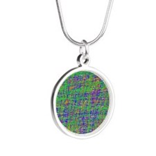 color fusion Silver Round Necklace