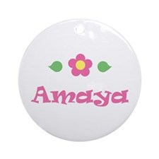 "Pink Daisy - ""Amaya"" Ornament (Round)"