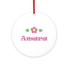 "Pink Daisy - ""Amara"" Ornament (Round)"