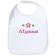 """Pink Daisy - """"Alyssa"""" Bib"""