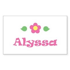 "Pink Daisy - ""Alyssa"" Rectangle Decal"