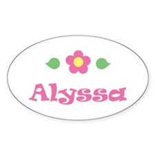 "Pink Daisy - ""Alyssa"" Oval Decal"