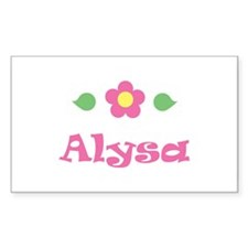 "Pink Daisy - ""Alysa"" Rectangle Decal"