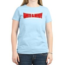 White & Nerdy Women's Pink T-Shirt