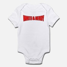 White & Nerdy Infant Bodysuit