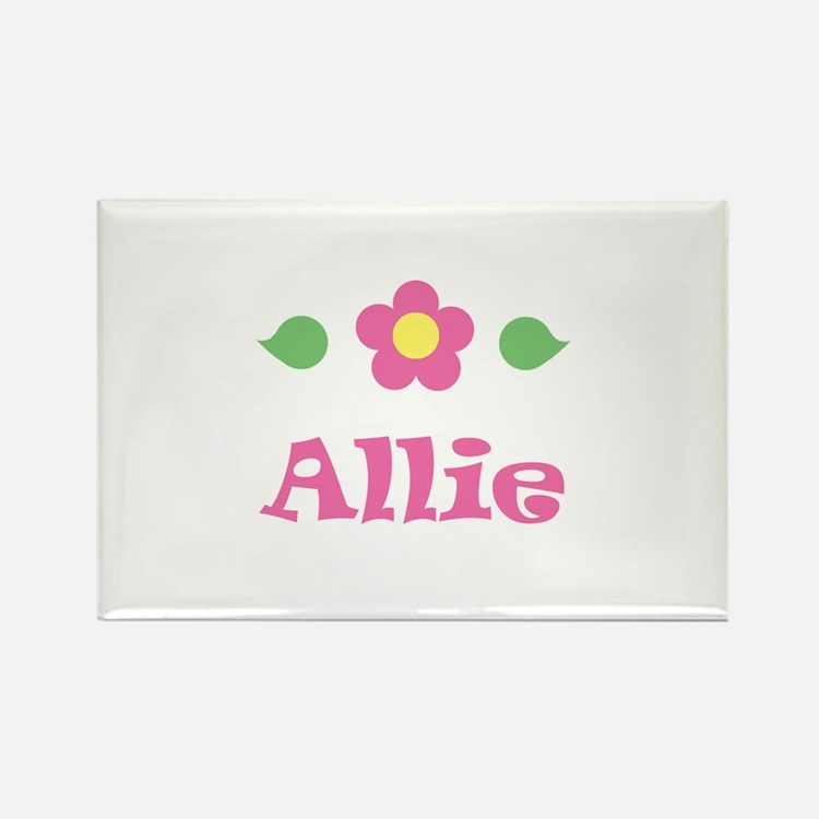 "Pink Daisy - ""Allie"" Rectangle Magnet"