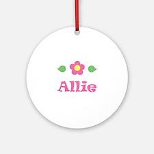 "Pink Daisy - ""Allie"" Ornament (Round)"