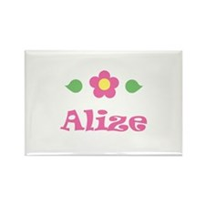 """Pink Daisy - """"Alize"""" Rectangle Magnet"""