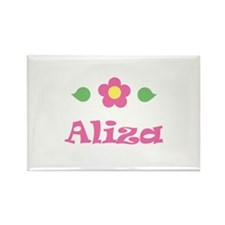 "Pink Daisy - ""Aliza"" Rectangle Magnet"