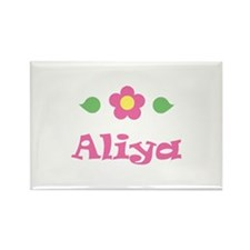 "Pink Daisy - ""Aliya"" Rectangle Magnet"