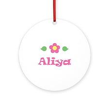 "Pink Daisy - ""Aliya"" Ornament (Round)"