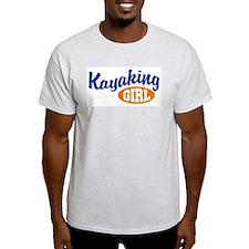 Kayaking Girl Ash Grey T-Shirt