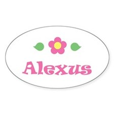 """Pink Daisy - """"Alexus"""" Oval Decal"""