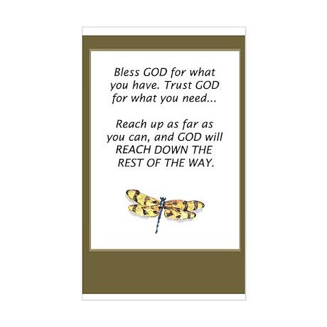 Prayer Rectangle Sticker