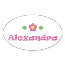 "Pink Daisy - ""Alexandra"" Oval Decal"